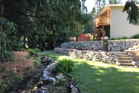 Creekside garden apartment with private entrance.