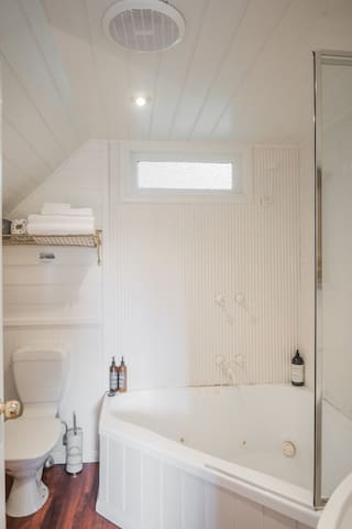 Your bathroom ensuite with Spa bath for 2 and complimentary Australian made all natural body care products