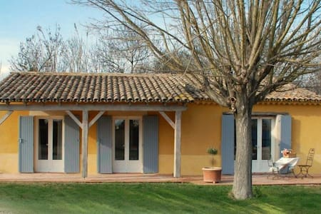 """Les Oliviers"" - (6 pers: 4 adults + 2 kids) WIFI, air-con, bikes, pool - Caderousse - House"
