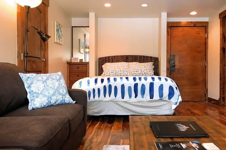 Nightstand + Bed + Main Door Entrance