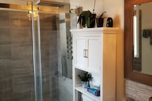 Waterfall shower! You'll love it!
