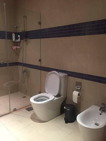 A separate bathroom