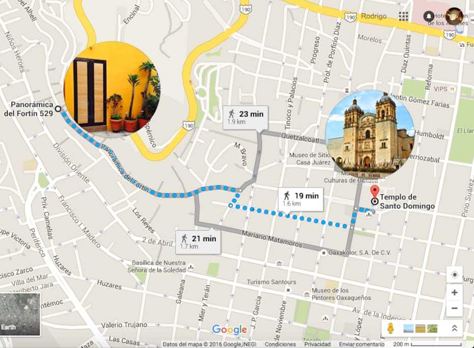 Near the church of Santo Domingo, museums, restaurants and historic places. Downtown it's very close walking.