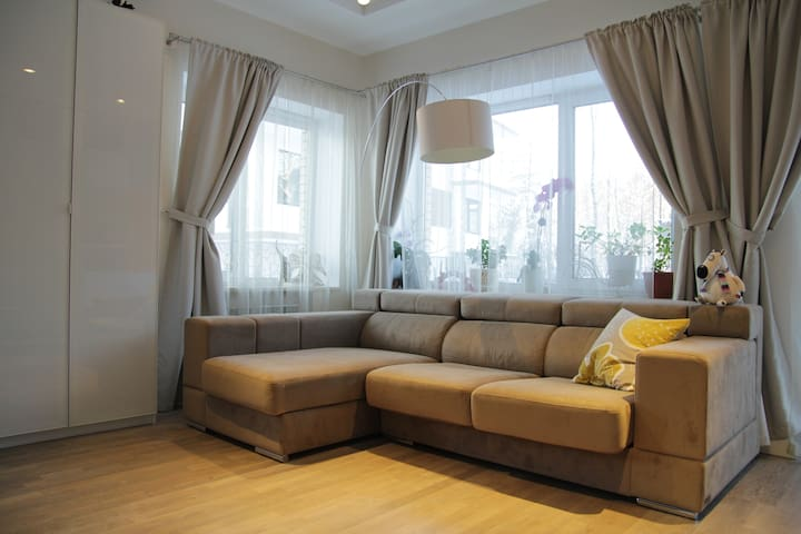 Designer apartment in the surburb - Pargolovo - Apartment