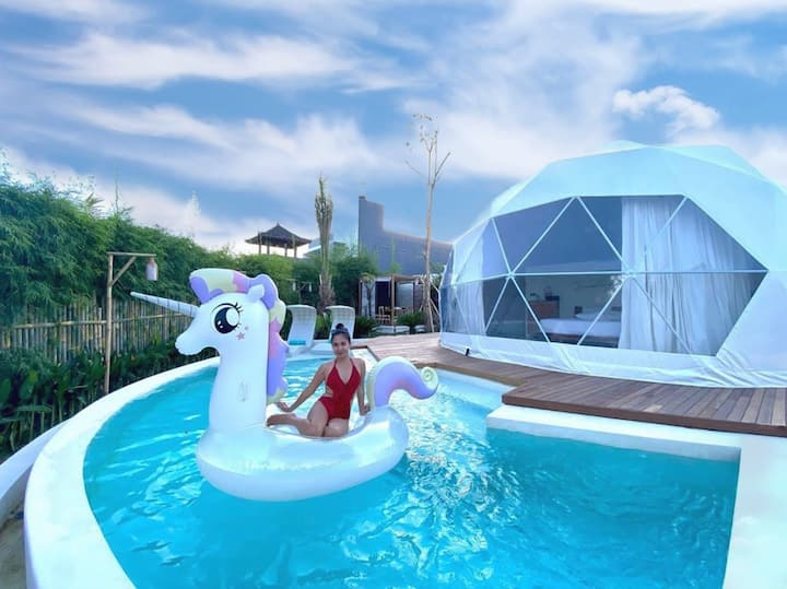 Romantic stay at tent villa with private pool