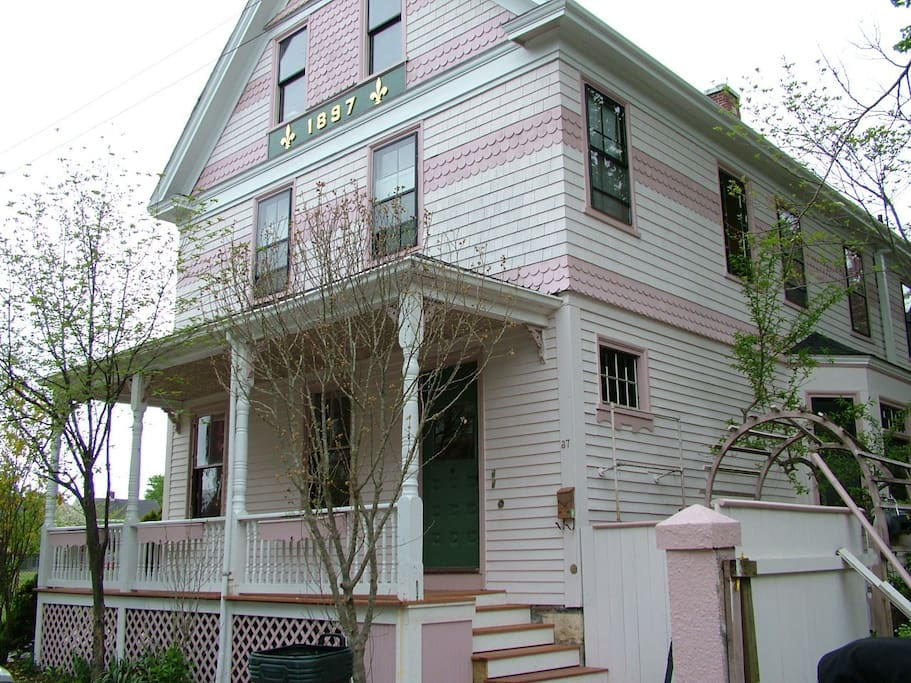 Front of the house - built in 1897!  Apartment is on the 3rd floor.