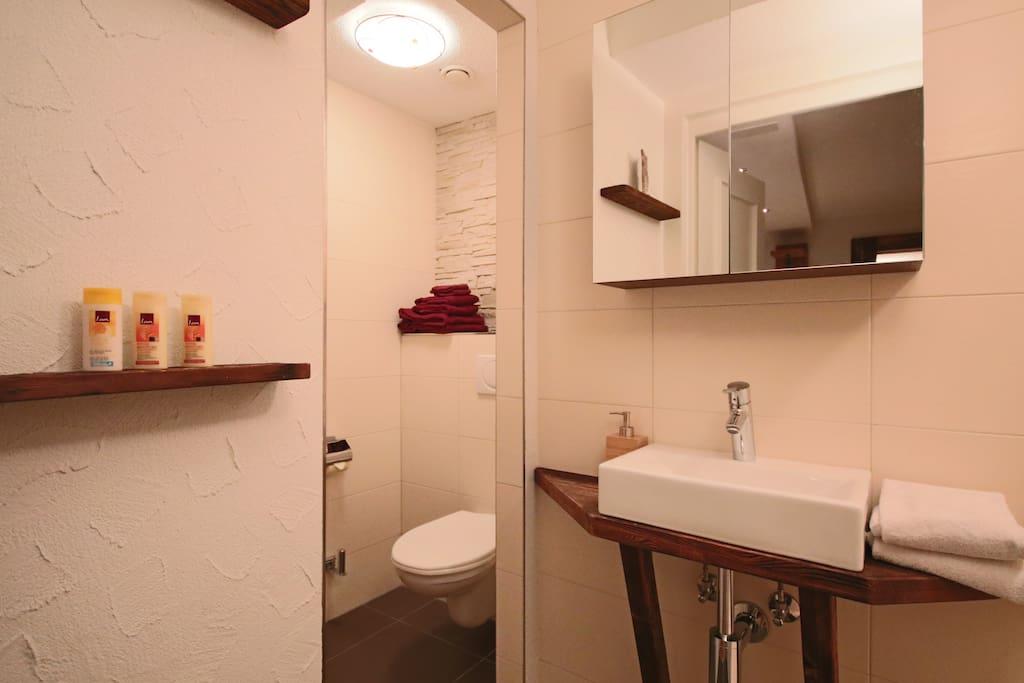 Badzimmer mit WC/Dusche