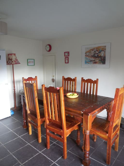 Another view of the kitchen - it's a great space for family meals