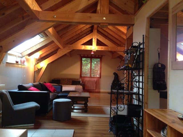 Loft confort proche parc d'activité Alpespace - Sainte-Hélène-du-Lac - Appartamento