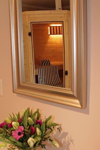 finnische Sauna in der Wohnung