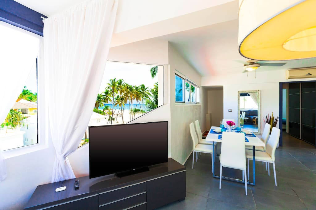 Our cozy, lovely apartment is set directly on the beach. Everything is made with love and passion. So you can totally enjoy your stay and get the best emotions.