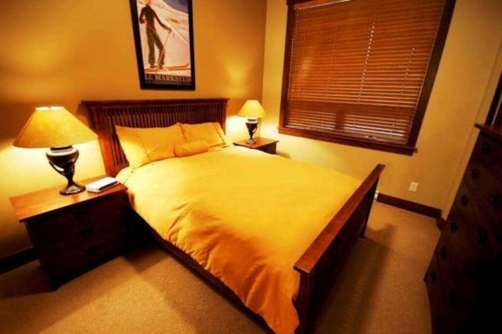 The bedrooms all have comfortable beds