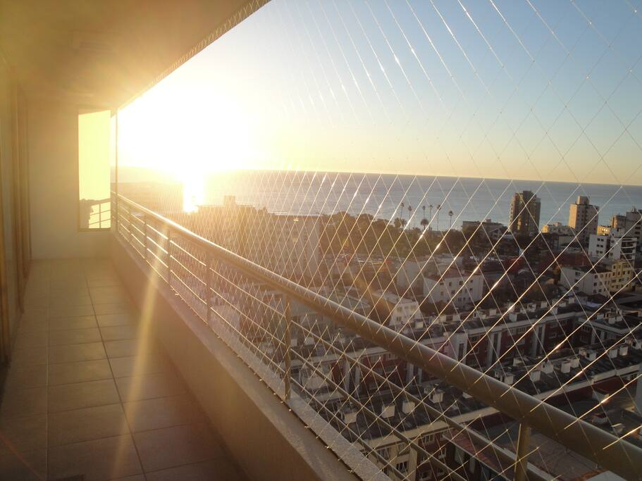 Espectacular vista al mar desde la terraza
