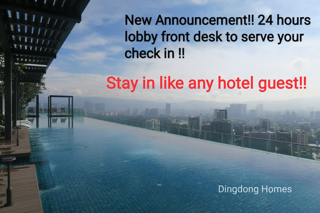 From 8th September 2018, we have 24 hours Lobby front desk to serve your check in.
