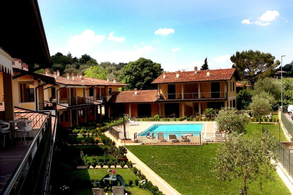 """Vista sezione Residence estivo sul lago """"Le Vertine"""" in Sulzano (Bs)"""