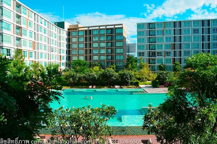 Condo with biggest swimming pool in Chiang Mai
