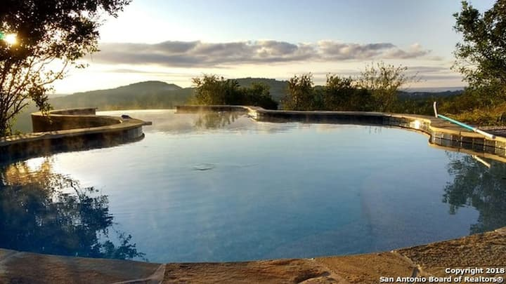 Serene Hill Country Home, 12+ Acres, Infinity Pool