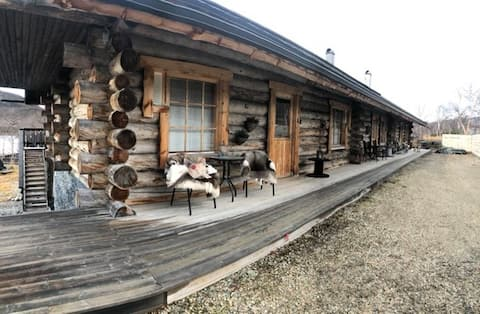 Kelo Timbercabin on lake Kilpisjärvi
