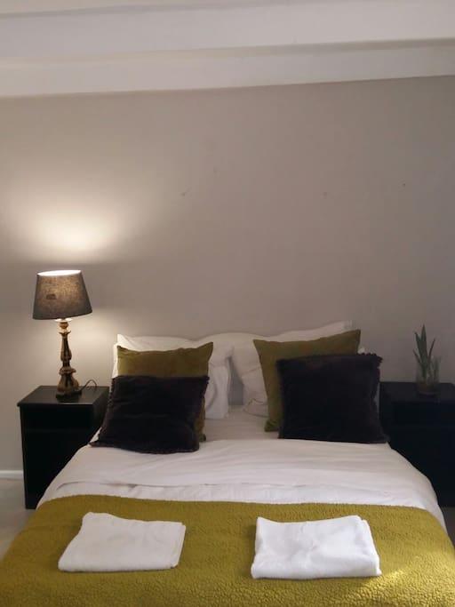 Double Bedroom with crispy white linen