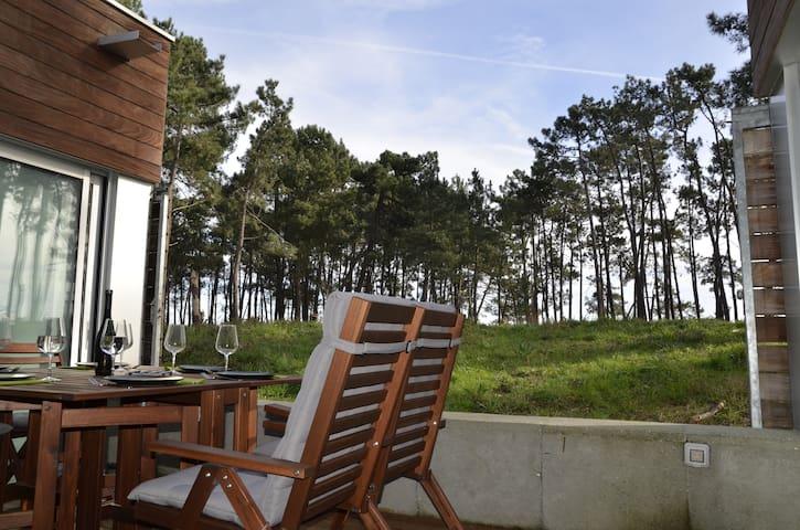 Apto a 50 m de la playa con piscina - Illa de Arousa - Huis