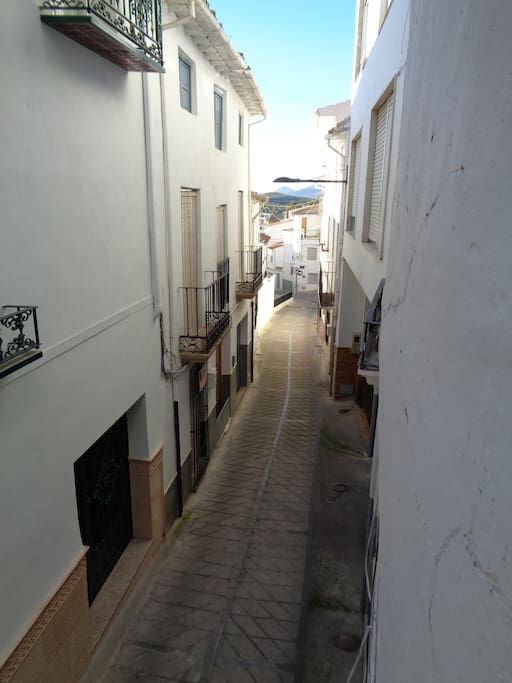 View from your balcony: Calle Collados, old Castillo and the Sierra Sur de Jaen
