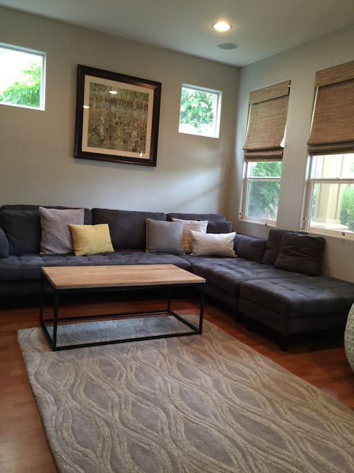 Living room with sectional sofa.