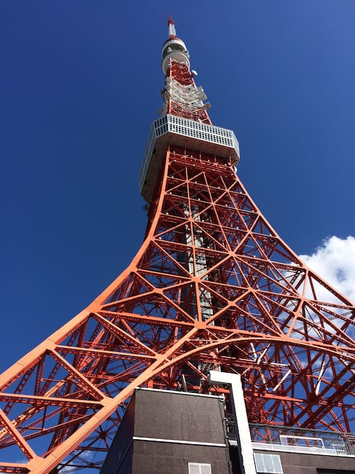 20-minute train ride to Tokyo Tower(onarimon station)