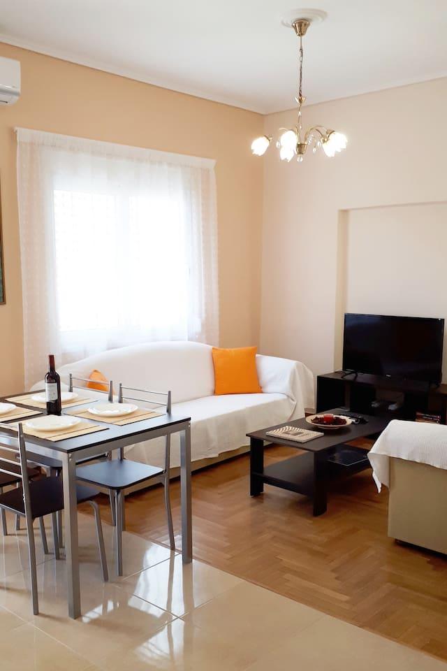 Bright living room area