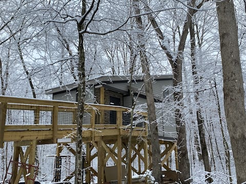 Treehouse in Woods , Welcome to the Owl's Nest