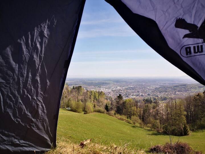 Idyllisches Camping am Bio-Bauernhof
