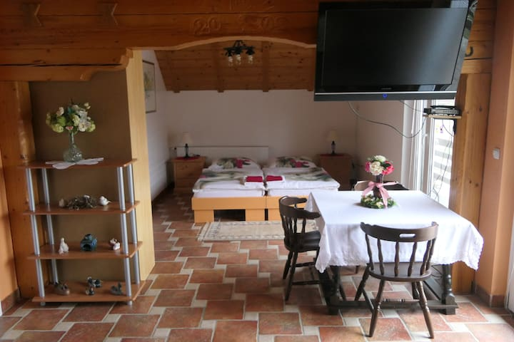 Brunko 2*** - spacious studio with balcony and AC