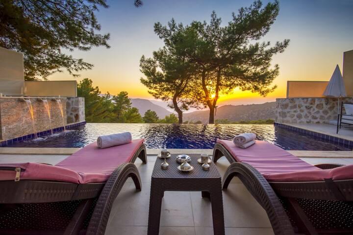 Secluded Luxury Honeymoon Villa, near Kalkan