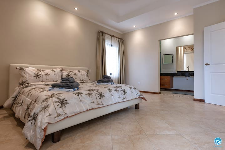 Master bedroom with TV-own bathroom-walk in closet-airco and private balcony