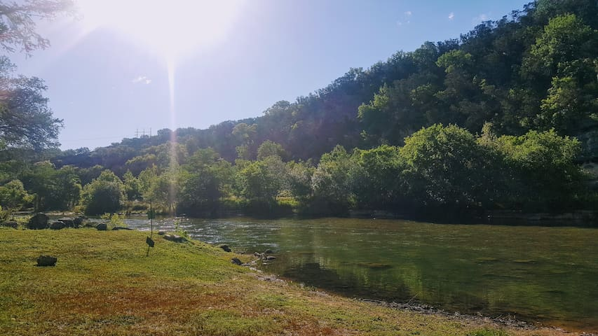 1st floor condo on the Guadalupe River