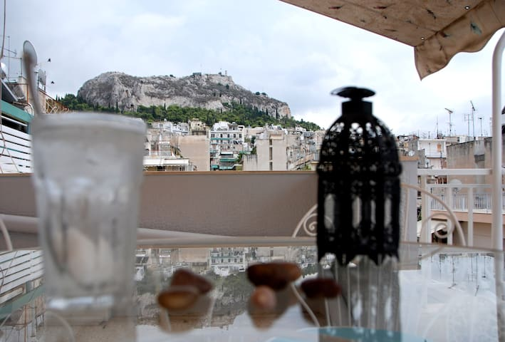 ☆ Downtown with Mount Lycabettus view ☆