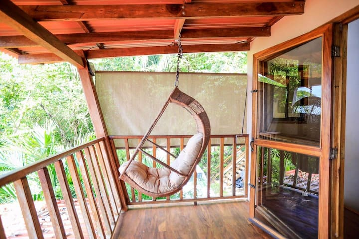 Morning coffee or sunset swing area #2. This private balcony is right off the bedroom in the previous pics!