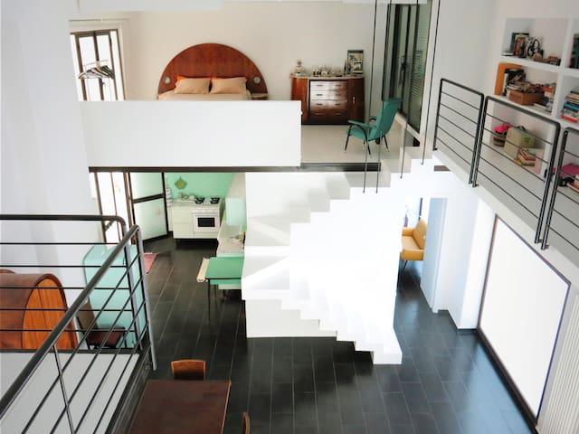 Loft Apartment with Castle-View Terrace