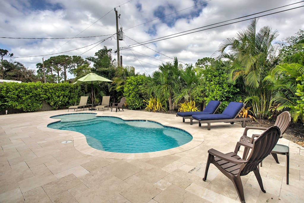 Spend relaxing days lounging on the beautifully landscaped patio and swimming in your private pool!
