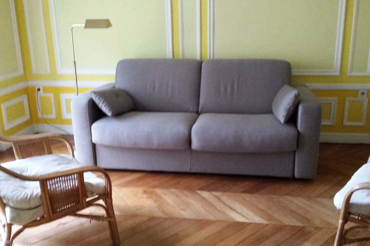 living room with very comfortable sofa