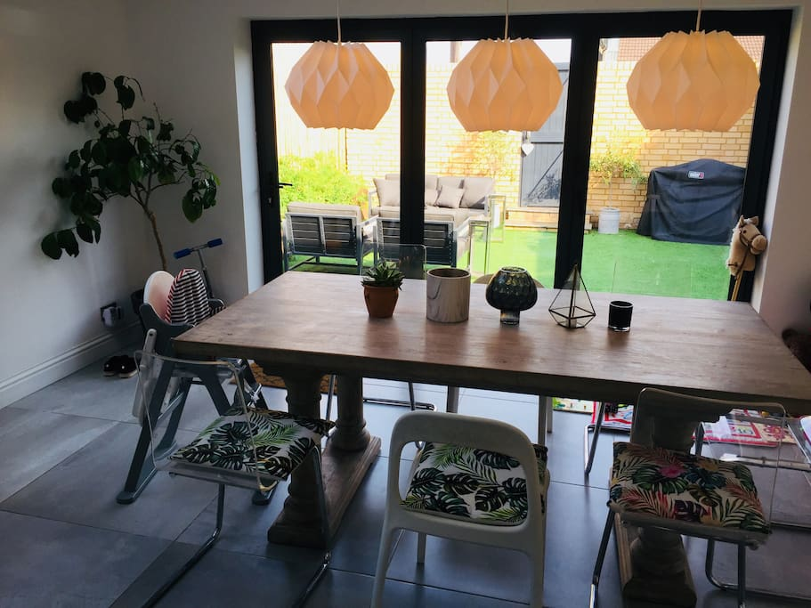 8 seater driftwood dining table