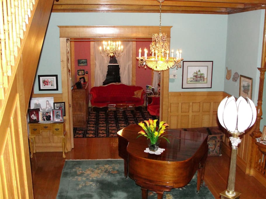 View of reception room and check in area.
