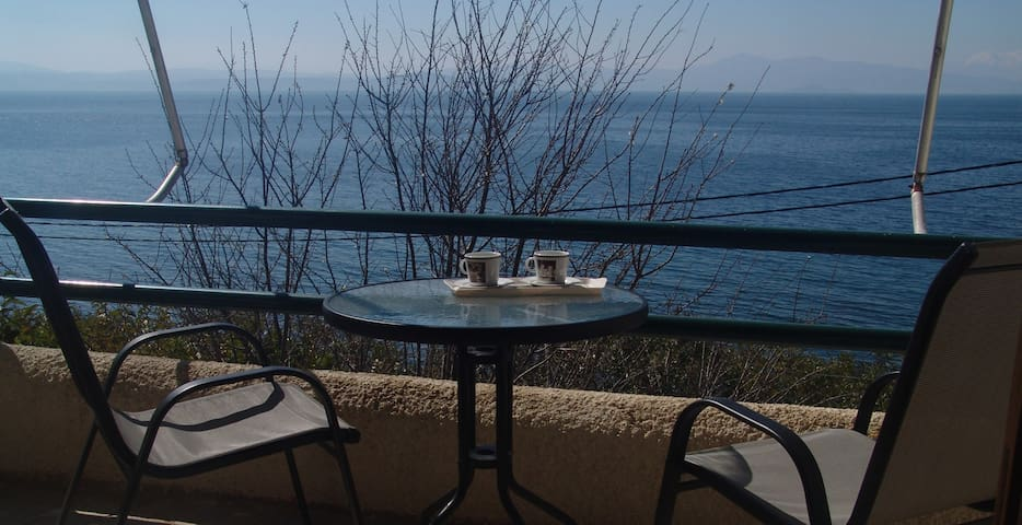 Sea side apartment with amazing view 2 - Sipiada - Apartment