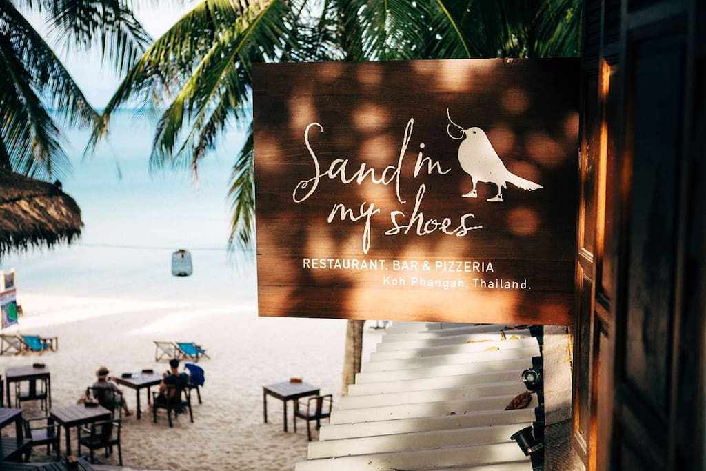 """Our property name and sign """"Sand in My Shoes"""""""
