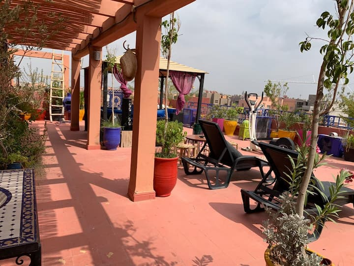 💜Kiwi Gueliz Center, 2 Rooms, Pool, Privacy