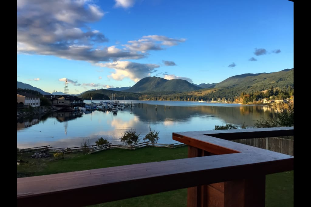 Stunning inlet view and scenery changes every day!