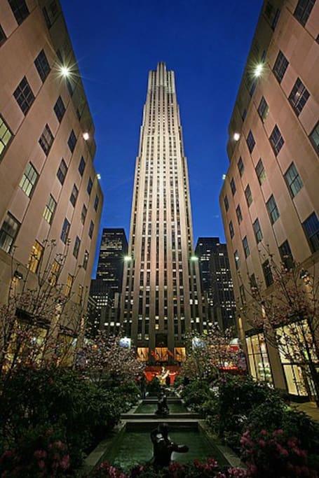 Rockefeller Center. 15min walking from my apartment.