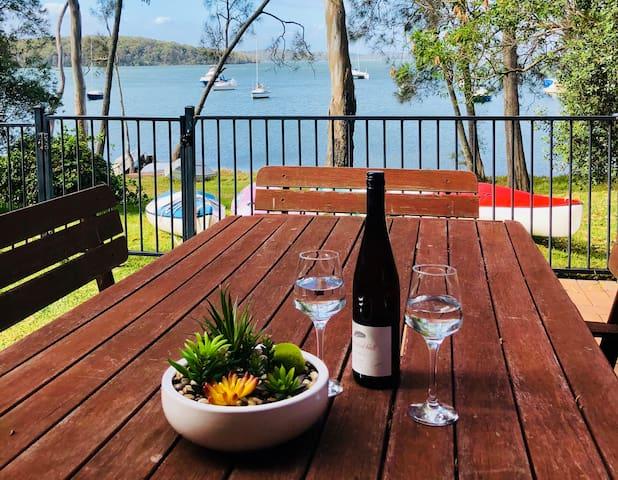 Unwind in your yard with beautiful lake views