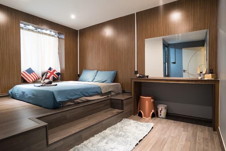小竹林 长沙岛房号 M-66 bamboo homestay 独立卫生浴 塌塌米式房型