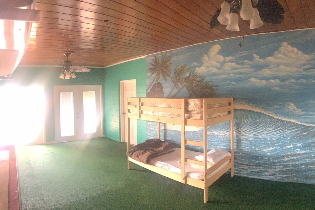 up to 4 bunk beds can be made available in the florida room for kids to have their 'own space'.