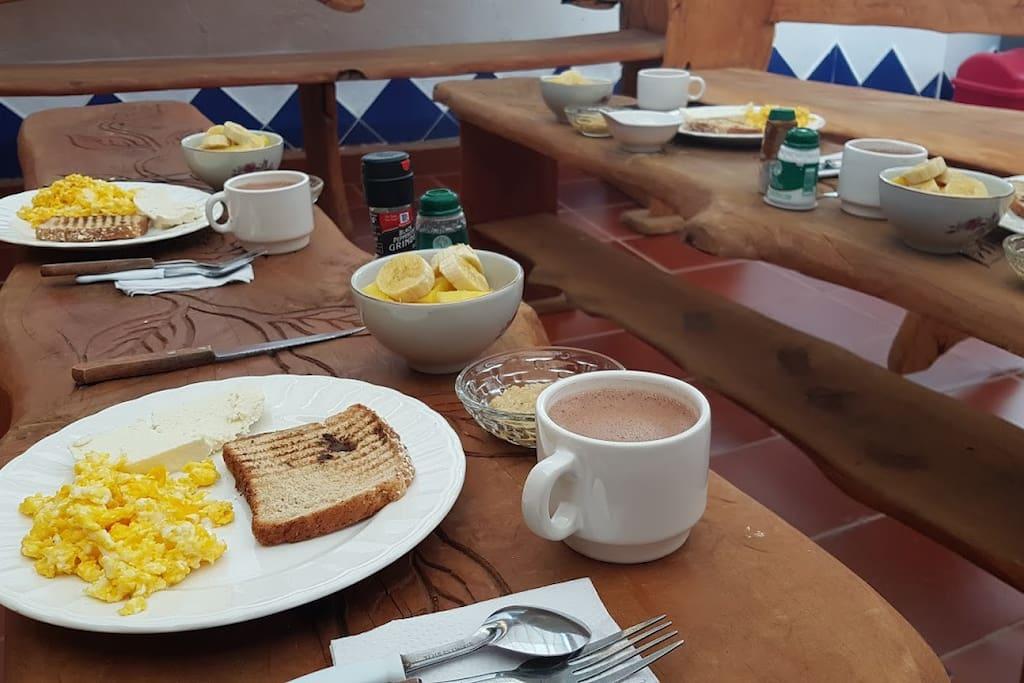 Desayuno opcional